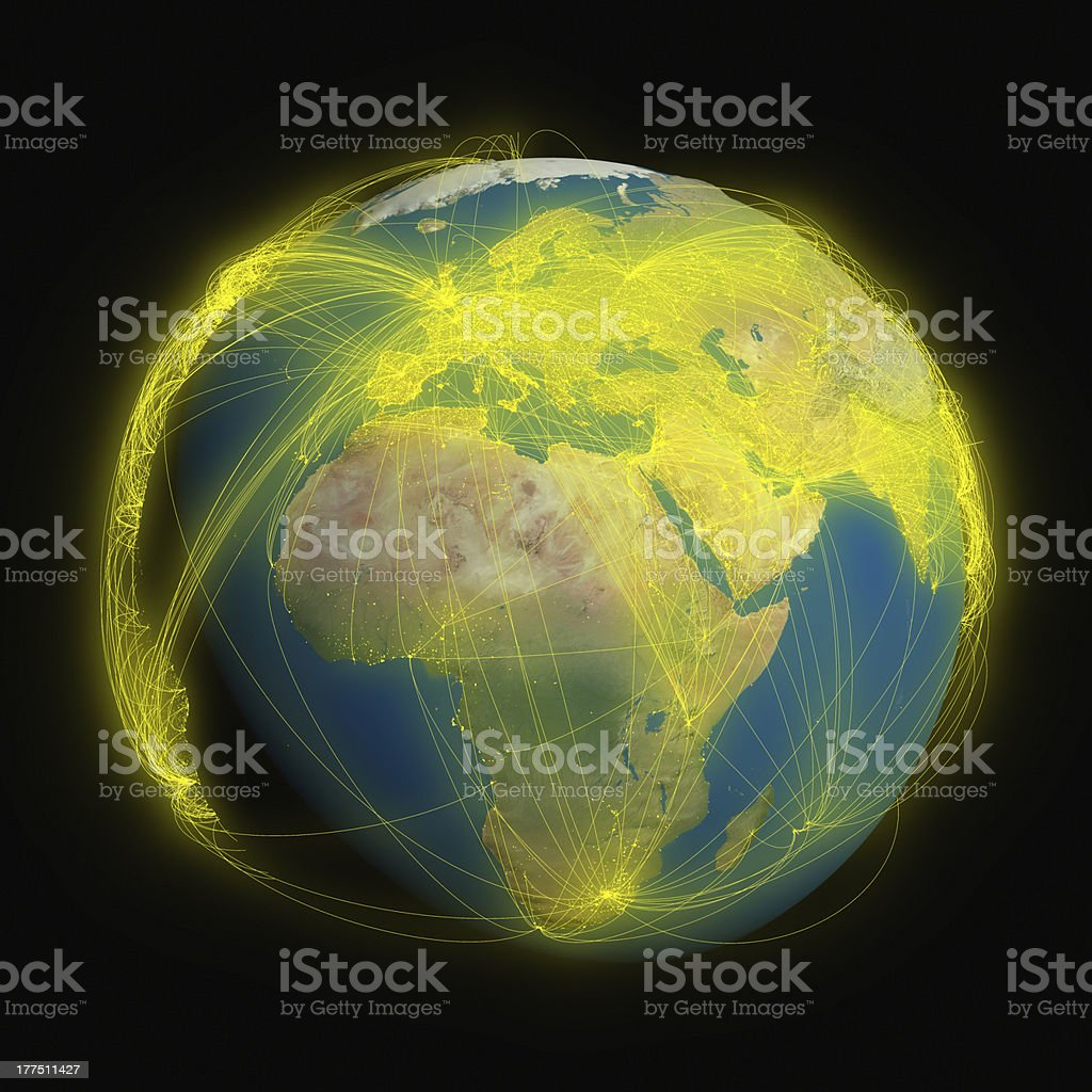 Connected world royalty-free stock photo