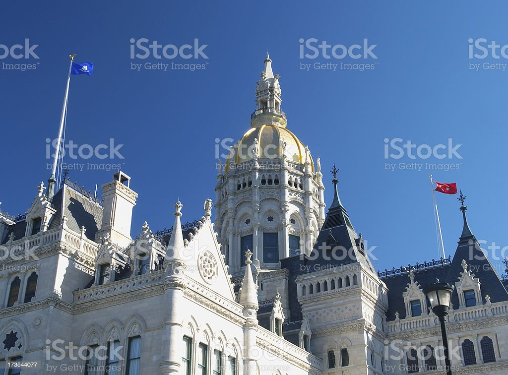 Connecticut Capitol detail #2 royalty-free stock photo