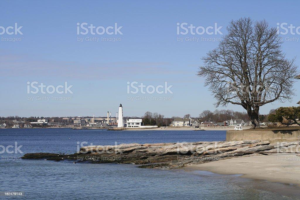 Connecticut: New London Light royalty-free stock photo