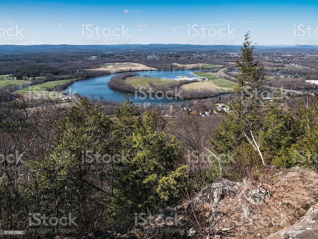 Connecticut River Oxbox stock photo