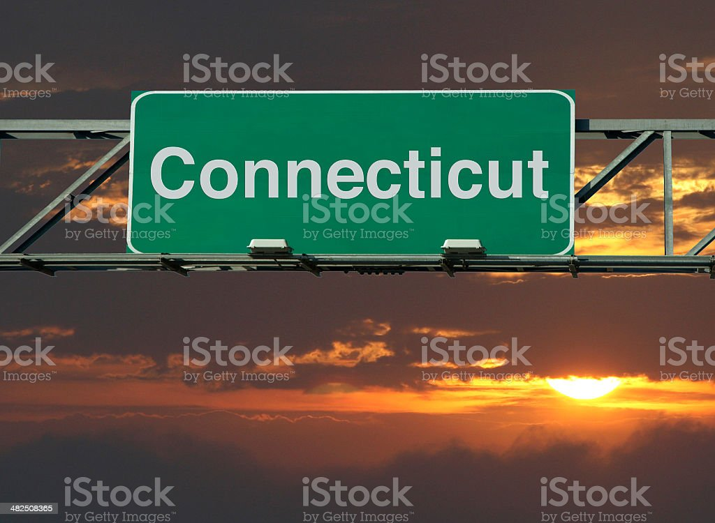 Connecticut Sign stock photo