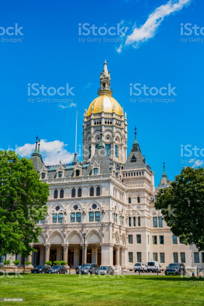 Connecticut State Capitol in Hartford Connecticut USA stock photo
