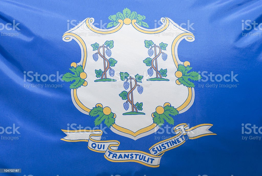 Connecticut State Flag royalty-free stock photo