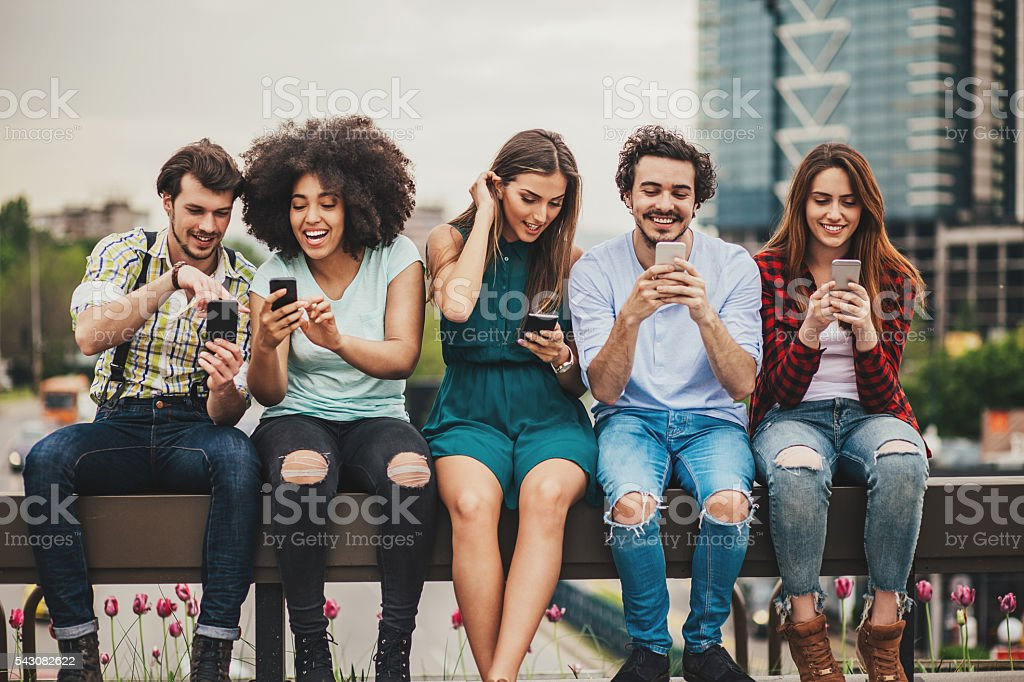 Connecting and sharing stock photo