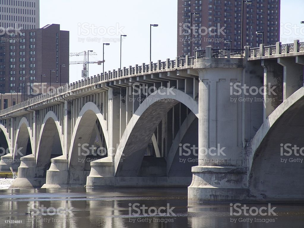 Connecting Bridge royalty-free stock photo