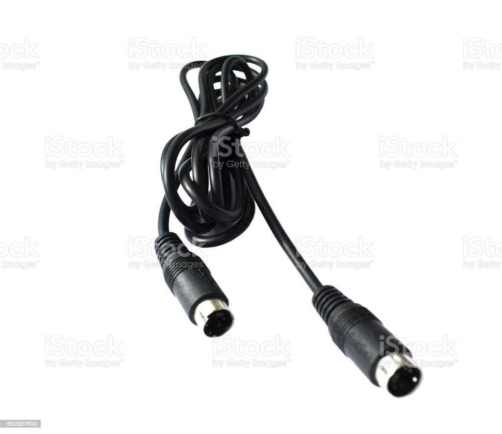 connecting cable for video cards - s video - s video stock photo