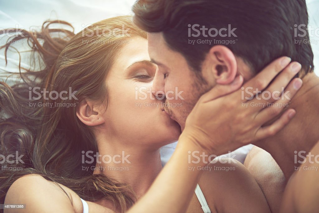 Connecting on more than just a physical level stock photo