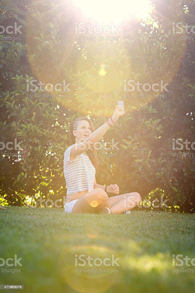 Connecting royalty-free stock photo