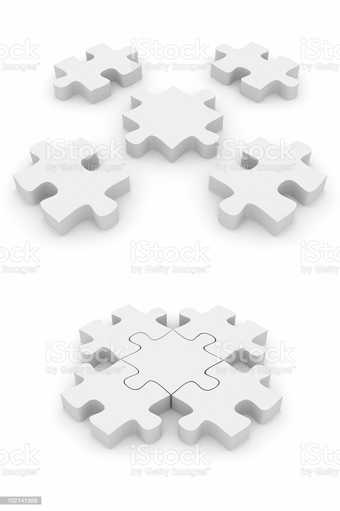 Connecting Puzzle royalty-free stock photo