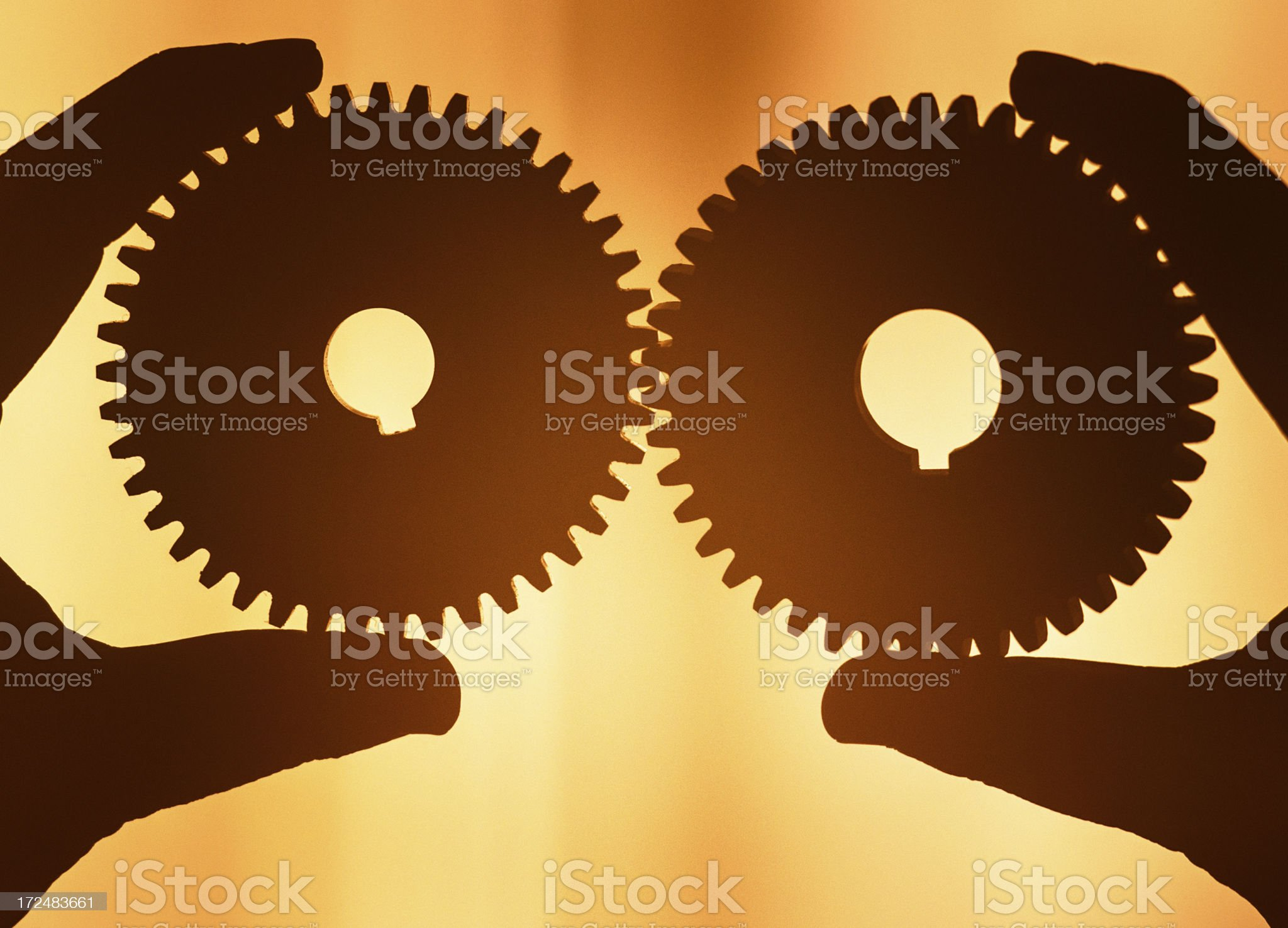 connecting the gear of teamwork royalty-free stock photo