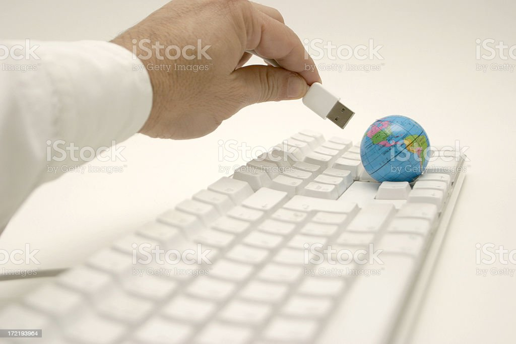 Connecting the world royalty-free stock photo
