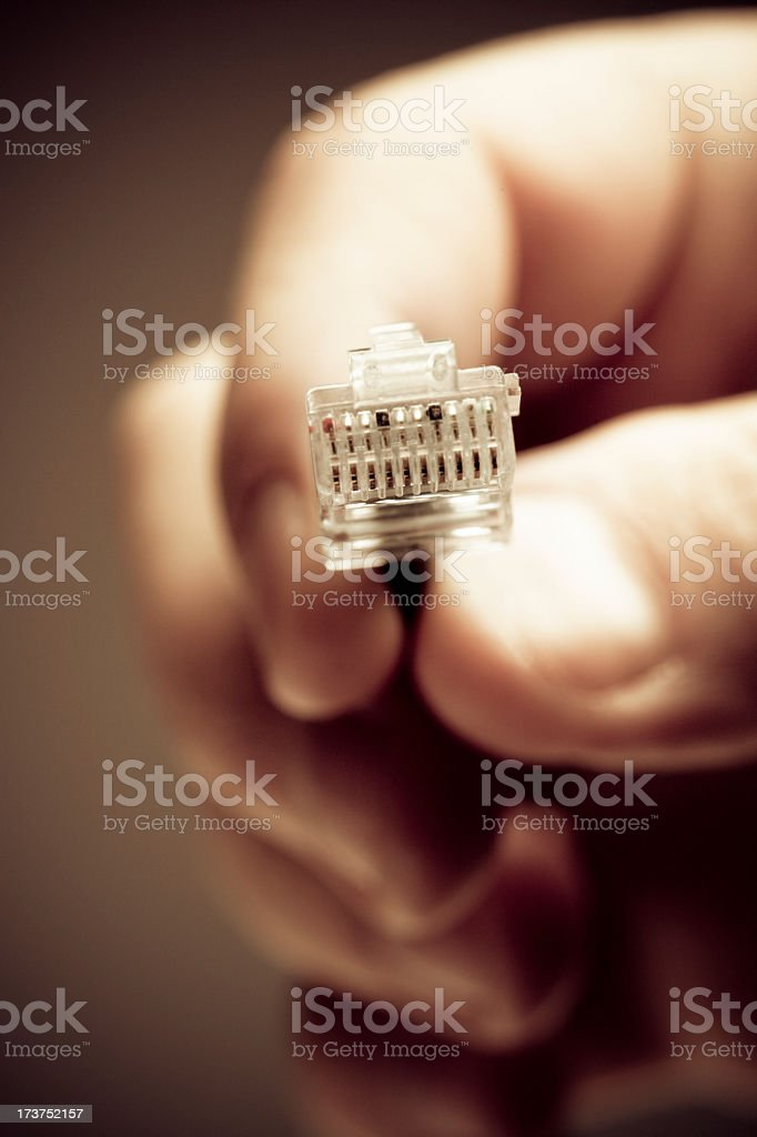 Connecting to the internet stock photo