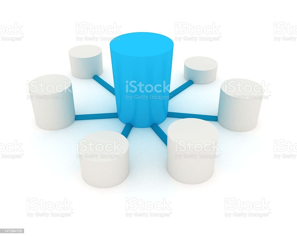 connecting to the server royalty-free stock photo