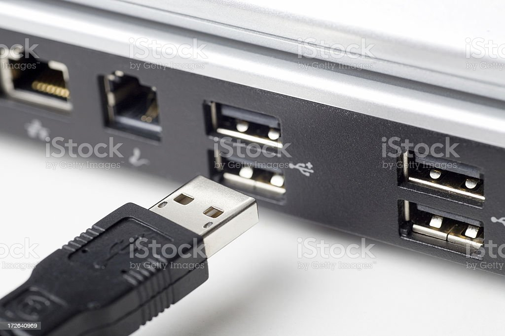 Connecting USB Device stock photo