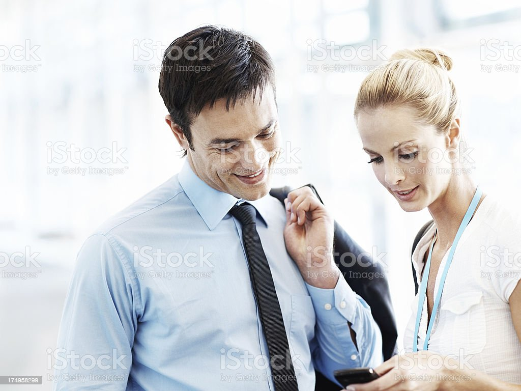 Connecting with wireless technology royalty-free stock photo