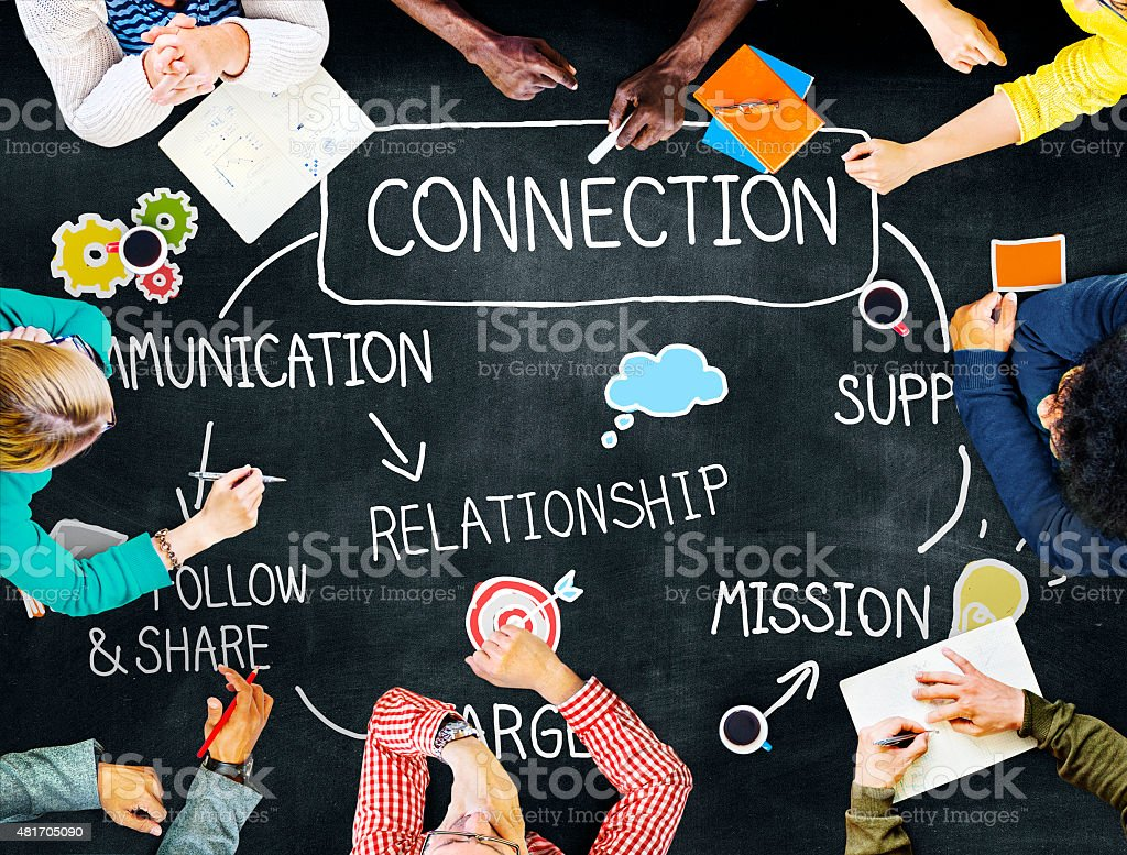 Connection Communication Networking Support Relationship Concept stock photo