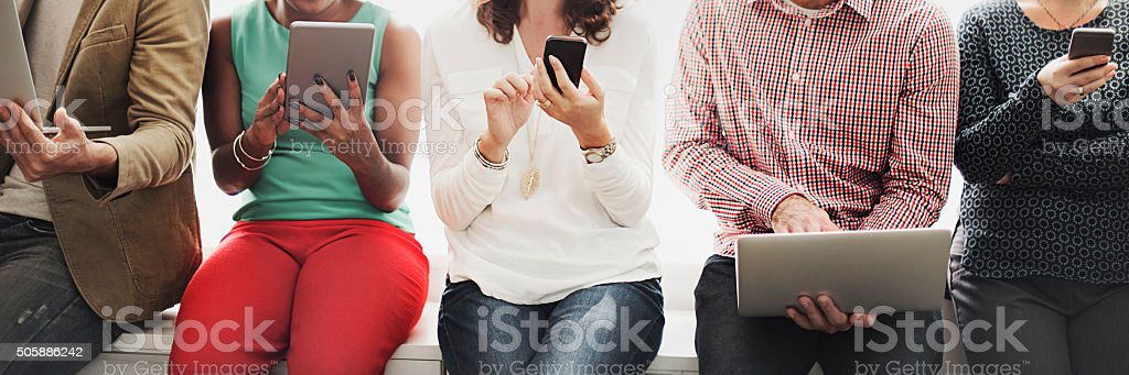 Connection Digital Device Nteworking Technology Concept stock photo