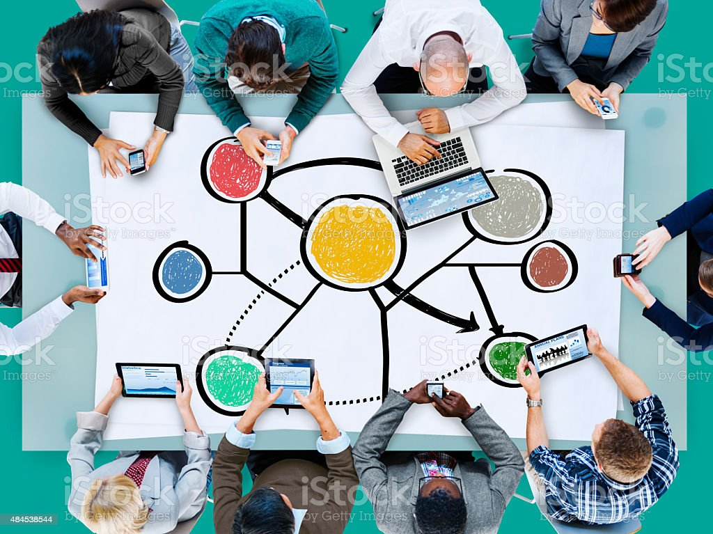 Connection Global Communications Corporate Networking Concept stock photo