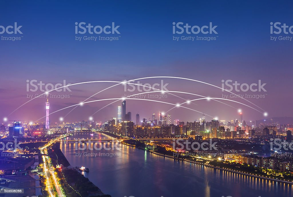 Connection in Guangzhou CBD stock photo