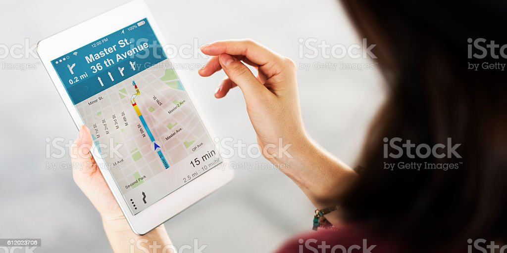 Connection Map Navigation Direction Concept stock photo