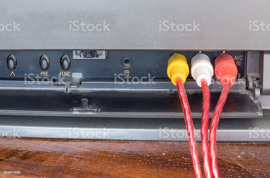 TV connection stock photo