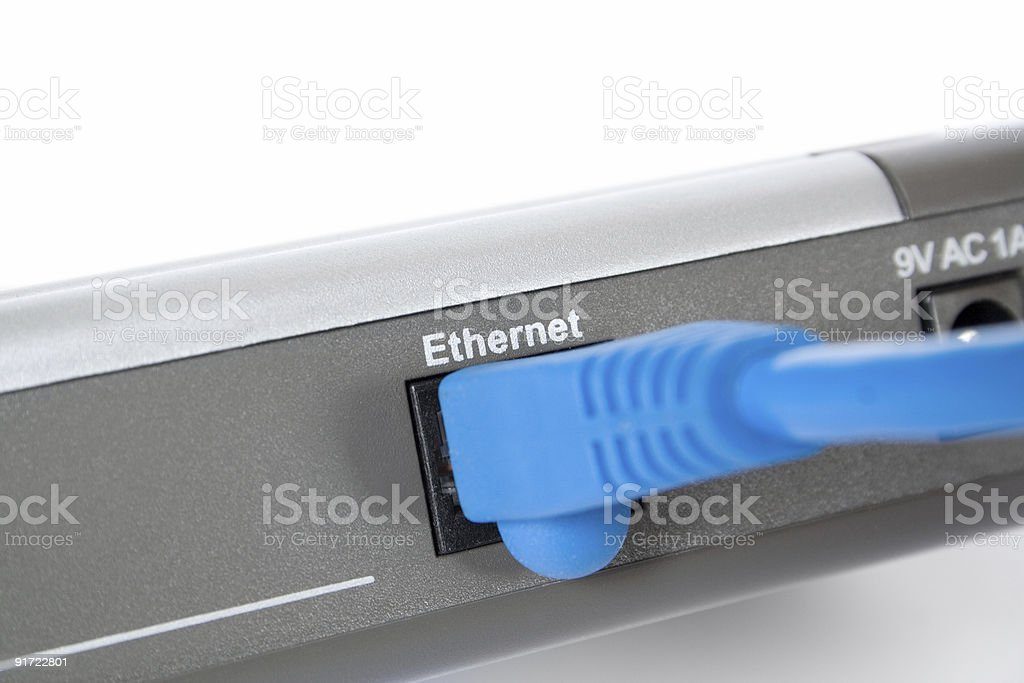 connection to modem royalty-free stock photo