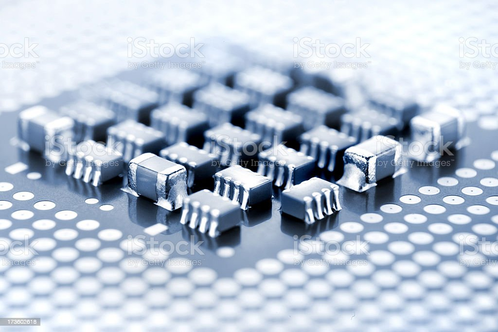 CPU connector and chips royalty-free stock photo