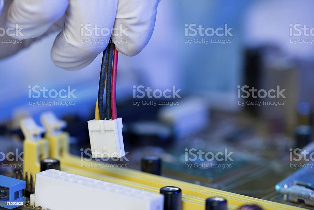 Connector installation royalty-free stock photo