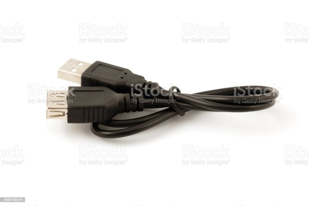 USB connectors, cable. stock photo