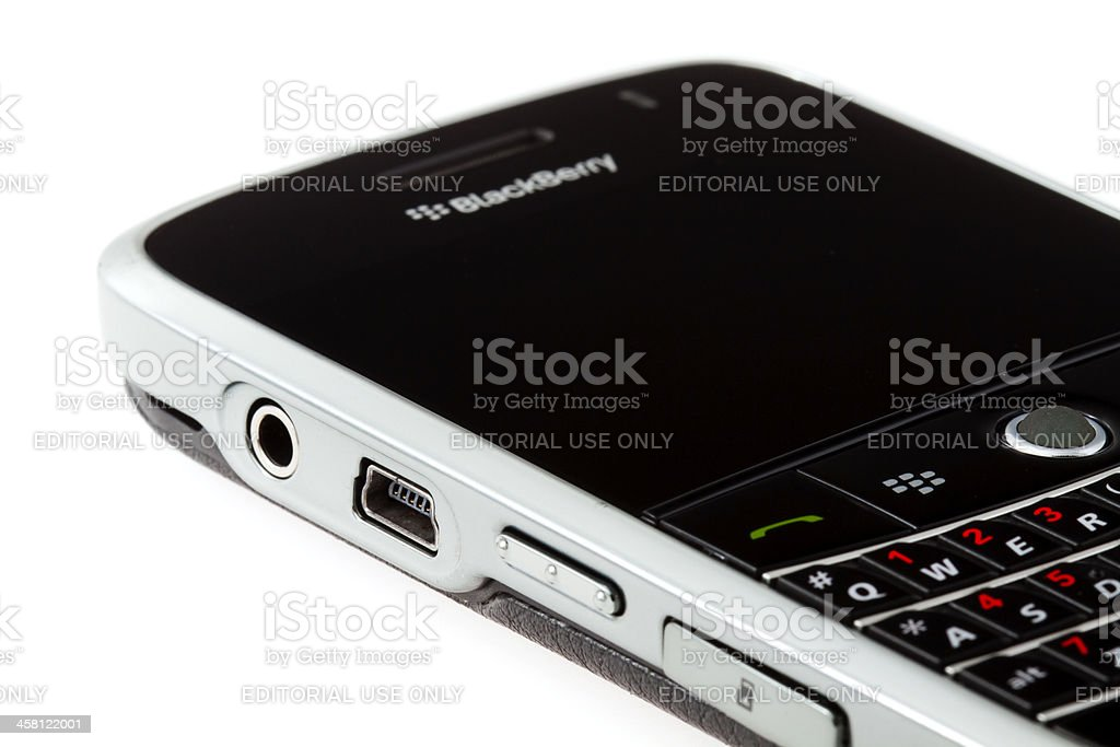 Connectors of Blackberry Bold 9000 royalty-free stock photo