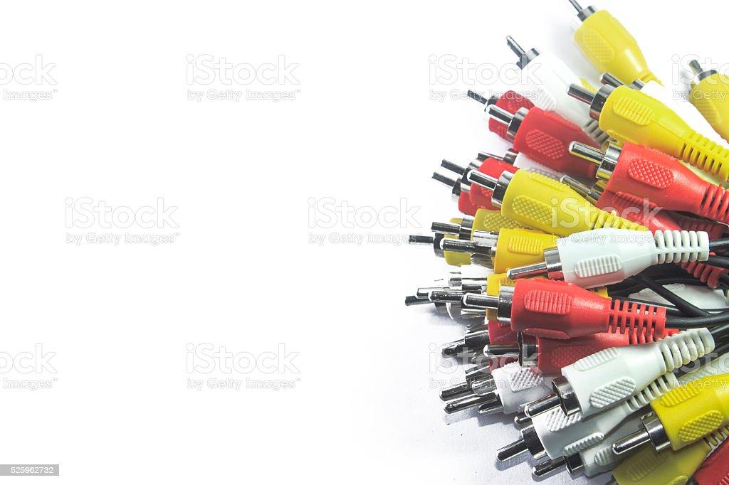 AV Connectors stock photo