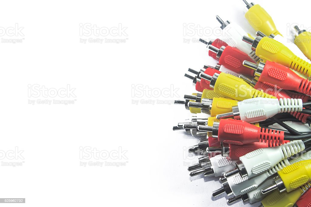 AV Connectors stock photo