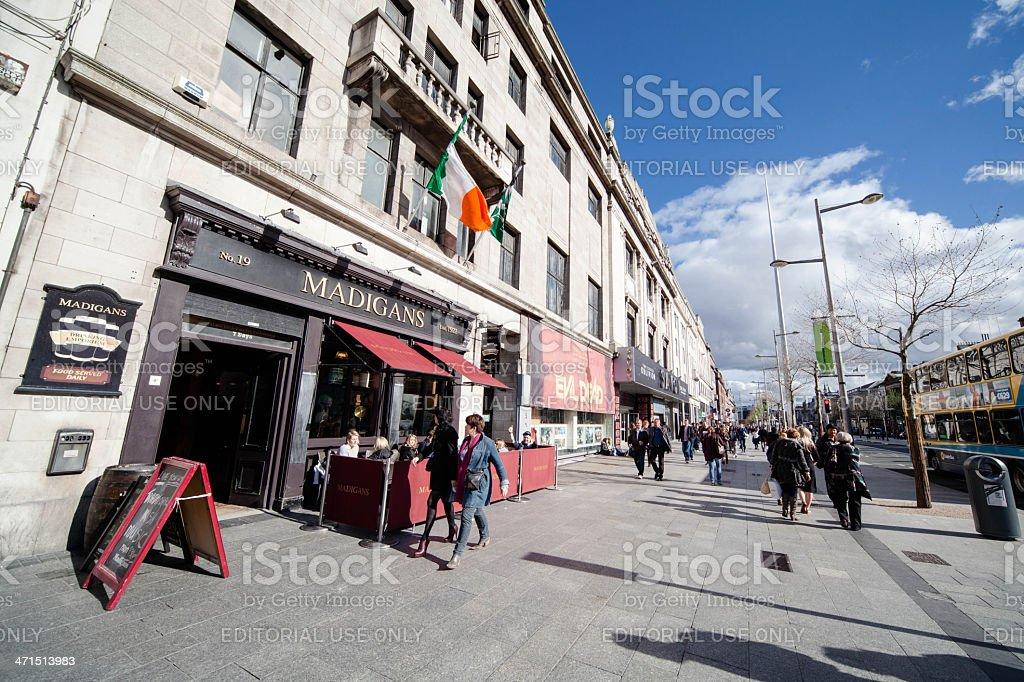 O'Connell Street, Dublin, Ireland royalty-free stock photo