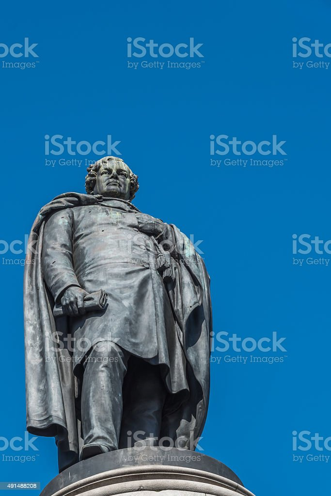 O'Connell's monument in Dublin stock photo
