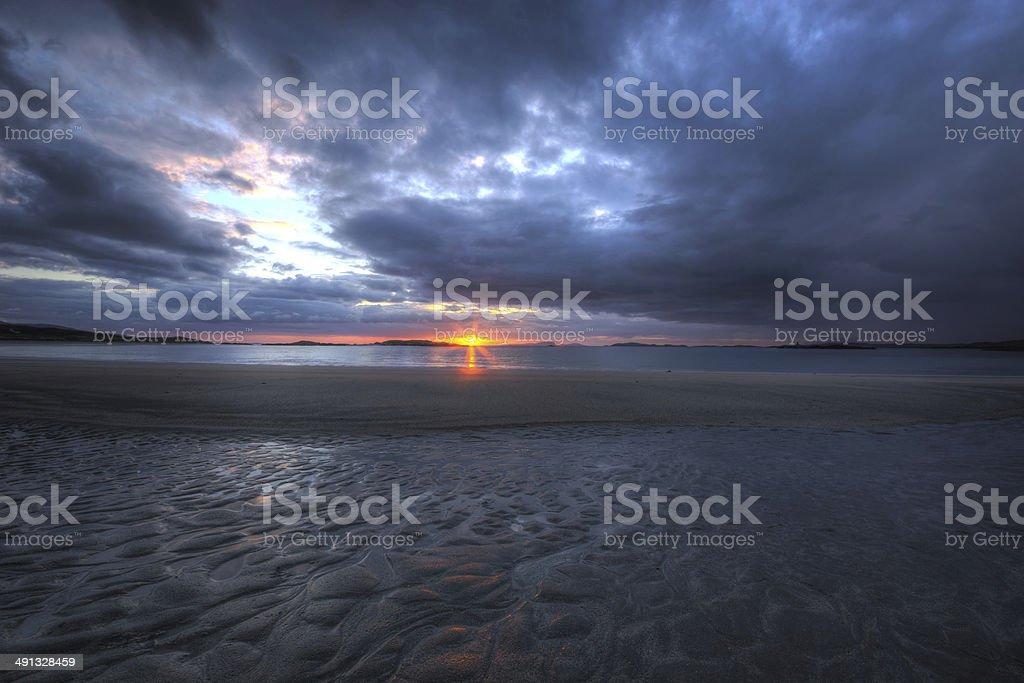 Connemara Sunset stock photo