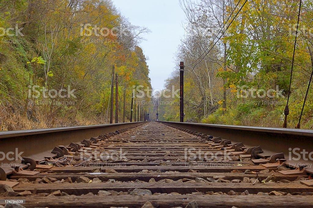 Conowingo Railroad Tracks stock photo