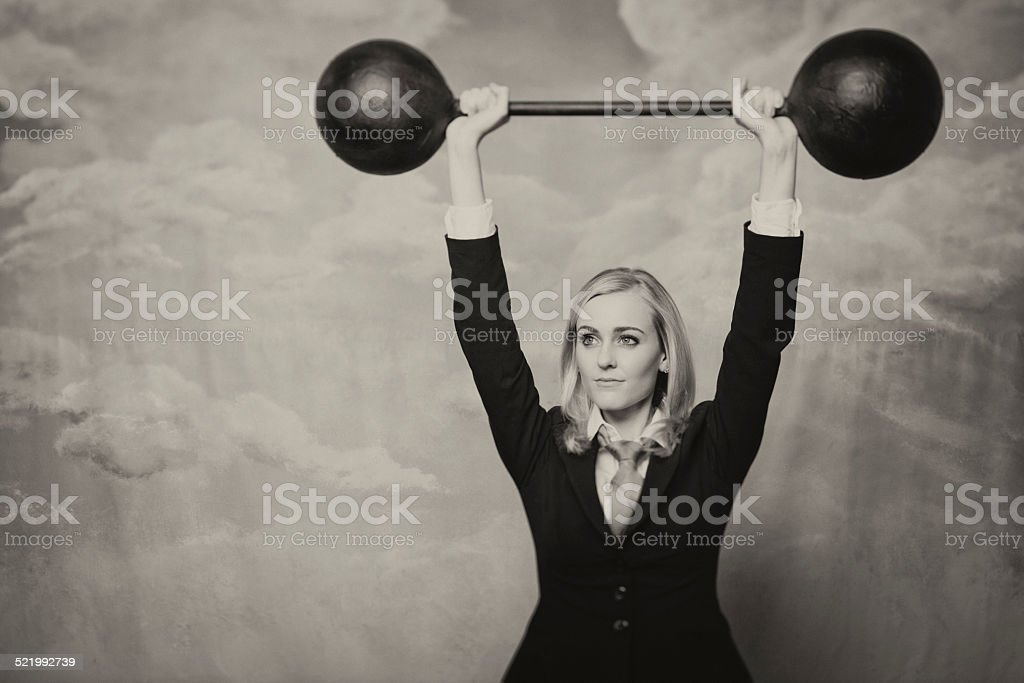 Conquering Business Adversity stock photo