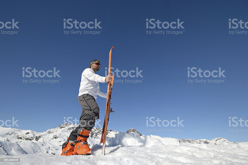 Conquering the summit royalty-free stock photo