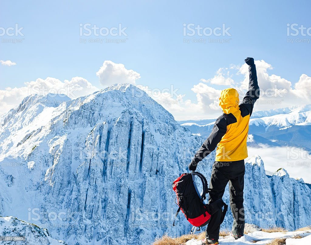 conquested peak royalty-free stock photo