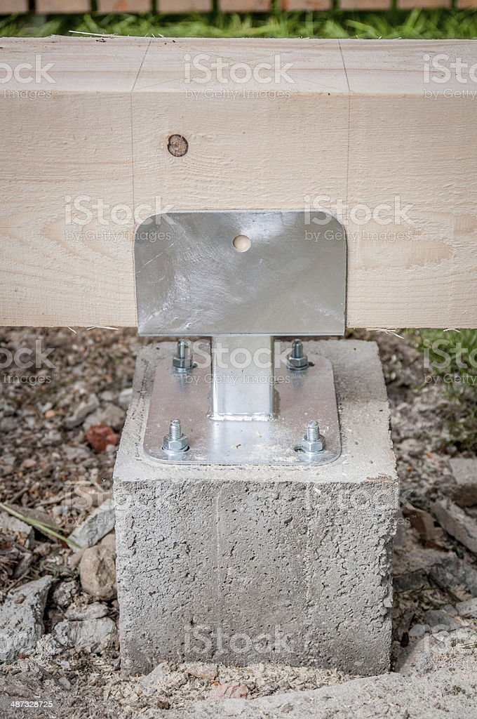 Conrete pillar stock photo