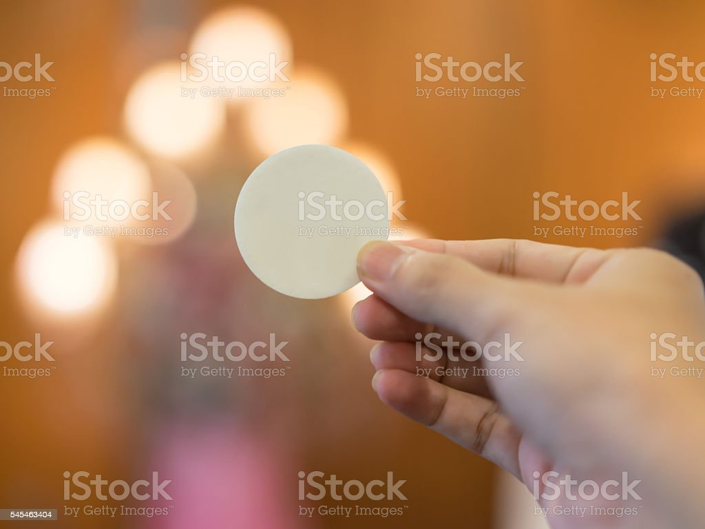 Consecrated Wafer stock photo