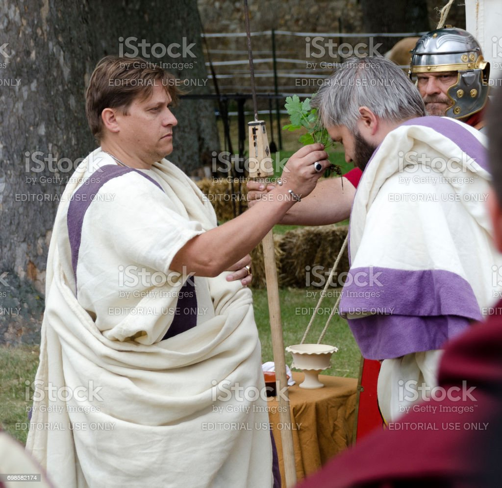 consecreation ceremony stock photo