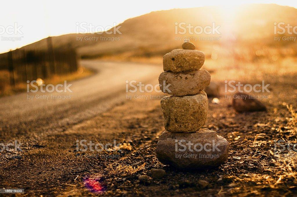 consecutive stones royalty-free stock photo