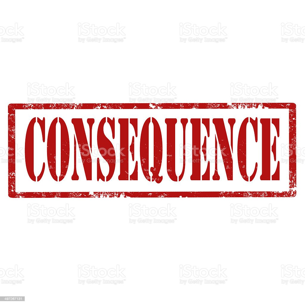 Consequence-stamp stock photo