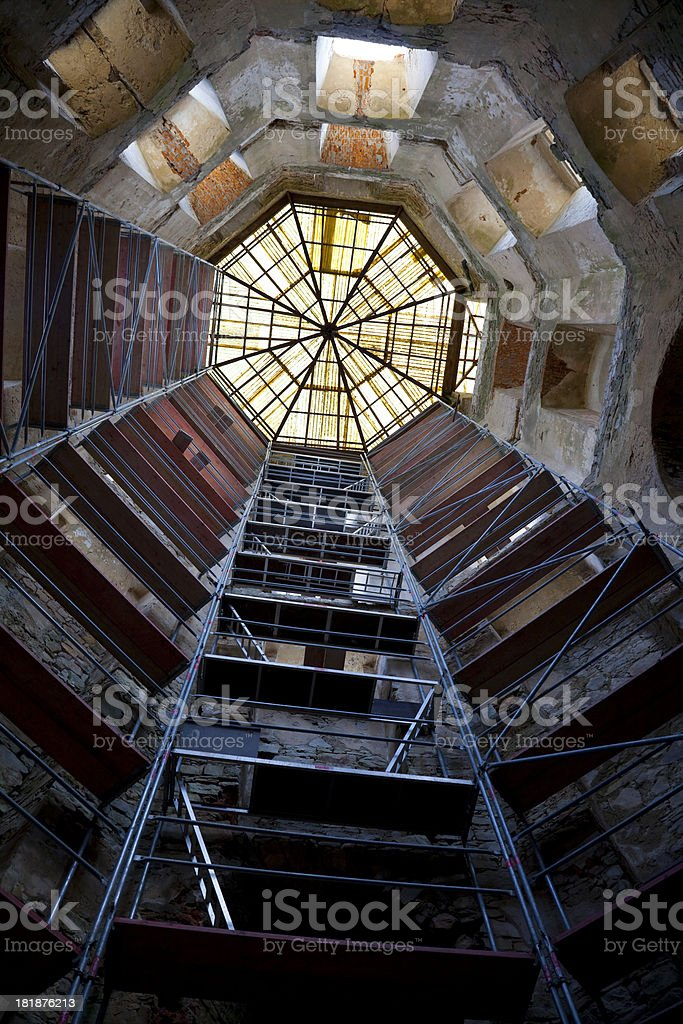 Conservation of castle tower royalty-free stock photo