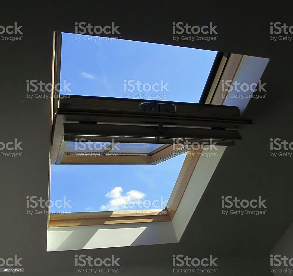 Conservation roof window stock photo