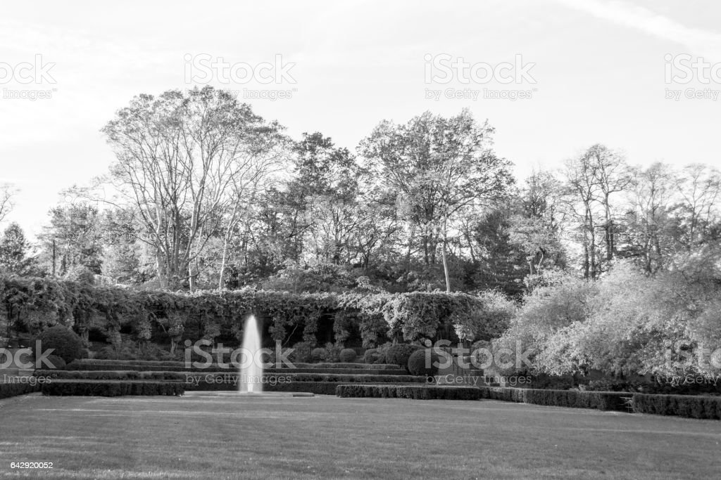 Conservatory Garden in Central Park during the fall season stock photo