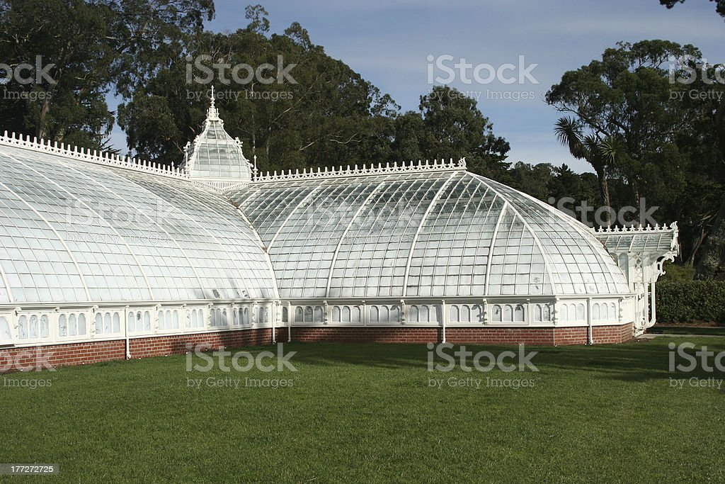 Conservatory of Flowers, Golden Gate Park, San Francisco royalty-free stock photo
