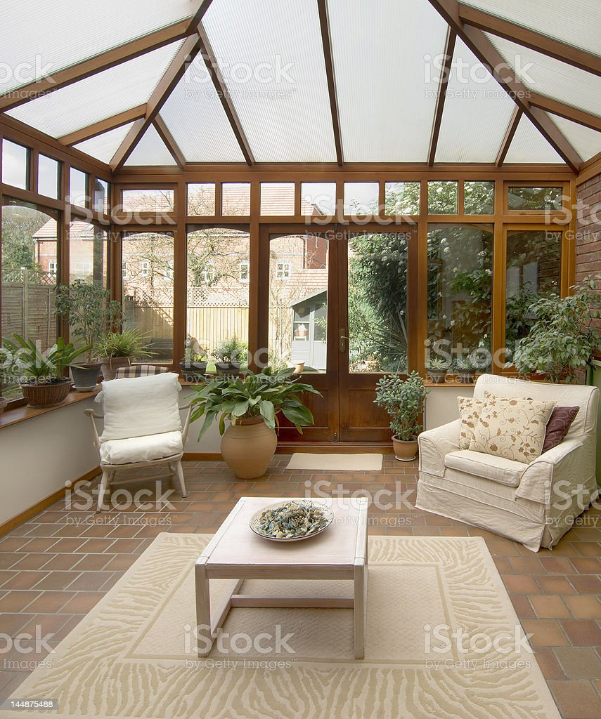 conservatory stock photo
