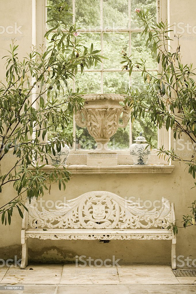 Conservatory window royalty-free stock photo